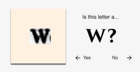 The Educator asks if it is a W