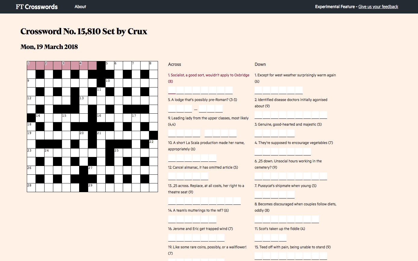 Amazing Interactive Crossword Ft Labs Home Interior And Landscaping Elinuenasavecom
